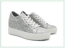 Igi&Co Zapatos de Mujer Zapatillas Igico Con Cuña Interior de Piel Y Lona Verano