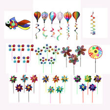 Rainbow Wind Spinner & Windmill Windsock Whirligig Toys Garden Yard Lawn Decor