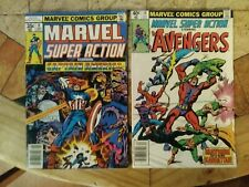 Marvel Super Action 18 Comic Lot - The Avengers Hulk - Marvel 1978-1981
