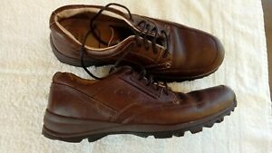 mens Clarks active air casual walking shoes size 11 G VGC dark brown leather