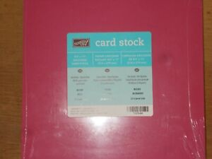 """Stampin'Up ROSE RED retired 8 1/2"""" x 11""""cardstock NEW-Sealed FREE SHIPPING"""