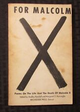 1967 FOR MALCOLM X Poems On The Life of by Randall & Burroughs 1st/1st Broadside