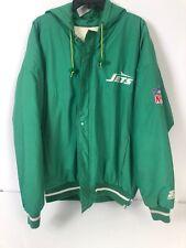 Vintage New York Jets Throwback Zip Starter Jacket Large 80s Warm
