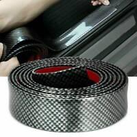 1M Car Door Sill Protector Strip Carbon Fiber Rubber Trim Bumper Sticker Edge AU