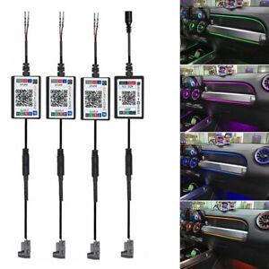 LED RGB APP Car Interior Decor Atmosphere Acrylic Light Guide Strip Lamp 10in 1