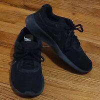 Nike Tanjun Running Shoes Sneakers Black Unisex Youth 5.5Y 818381-001 EUC