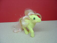 "1984 Hasbro Hong Kong MY LITTLE PONY ""Posey""? Pink Tulip Symbols Yellow Body"