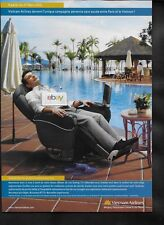VIETNAM AIRLINES PARIS NONSTOP TO HO CHI MINH CITY POOLSIDE BUSINESS MAN 2005 AD