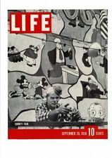 VINTAGE 1938 LIFE MAGAZINE COVER PHOTO MICKEY MOUSE BRUTUS COUNTY FAIR AD PRINT