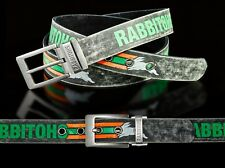 860009 SOUTH SYDNEY RABBITOHS NRL TEAM COLOURED PU LEATHER BELT UP TO 145CM