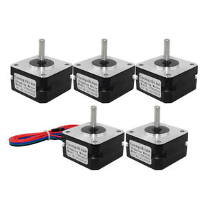 5x Nema17 12V 0.7A 2Phase Stepper Motor with Line 4-lead for 3D Printer Parts