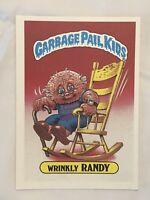 1986 GARBAGE PAIL KIDS 1st SERIES GIANT CARD #35 WRINKLY RANDY VINTAGE USA GPK