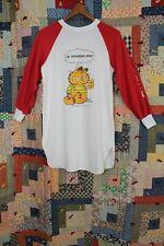 VTG 1978 Garfield Raglan Sleep Pajama Night Gown Women's T-Shirt Jim Davis