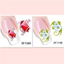 2Sheet/New Fashion Trend Beautifully Beautiful DIY Nail Stickers  XF1360+1148