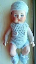 Antique Bisque Boy Baby Doll With Hkm 7/ With A Heart Around It.