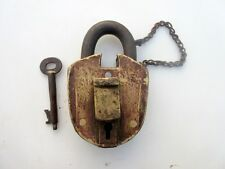 1940's Antique Old Rare Heavy Brass Central Jail Holkar State Indore Padlock