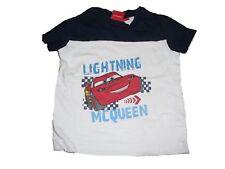 Tolles T-Shirt Gr. 62 / 68 weiß-blau mit Lightning Mc Queen Motiv !!