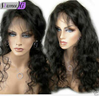 "Virgin Remy Indian Human Hair Body Wave Front/Full Lace Wig 12""-24"" Baby Hair"