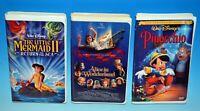 Disney Pinocchio & Little Mermaid 2 & Hallmark Alice In Wonderland new VHS Tapes