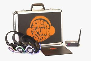 BEST Silent Disco Sound System for House Party, Backyard Movie Event -9 HP, 2 Tx