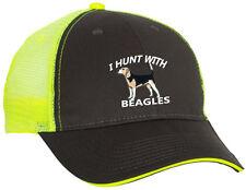 Hat Gray Front Yellow Cap Back Hound Dog Hunter Rabbit Hunt Beagle