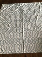 Light Blue Cream Geometric Design Shower Curtain Feminine Country Classic Boho