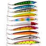 1Pcs Random Ten Colors Fishing Lures Crankbaits Hooks Minnow Baits Tackle Crank