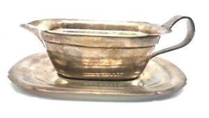 Vintage Reed Barton Silverplate Gravy Sauce Plate Boat Tray Mayflower 5100 5000