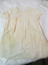 Vintage hand made Philippines Child's ivory color Dress smocking embroidery