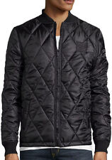 DC (DC Shoes) Black Ripstop Quilted Bomber Jacket Men's Size Medium