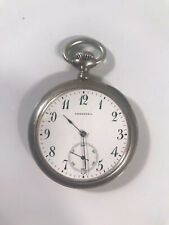 Vintage Tiffany & Co New York Sterling Silver Open Face Pocket Watch