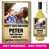 PERSONALISED BIRTHDAY WINE PROSECCO GIN VODKA BOTTLE LABEL PHOTO GIFT 063
