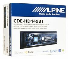 Alpine CD Player w/ HD Radio and Built In Bluetooth Car  Stereo CDE-HD149BT