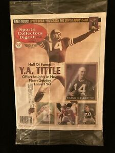 1997 Sports Collectors Digest magazine / SIP / SCD / Y.A. Tittle / Fleer / Goudy