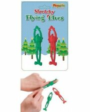 Stretchy Flying Catapult Elves Fun Christmas Stocking Filler Party Bag Toy