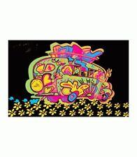 LOVE BUS - BLACKLIGHT POSTER - 24X36 FLOCKED TRIPPY HIPPIE 2263
