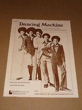 """Jackson Cinque """"DANCING Machine"""" US SPARTITI MUSICALI"""
