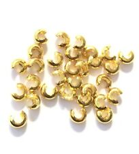 144 pcs Crimp Bead cover Gold Plated 5mm Jewelry Suppliesy
