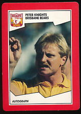 1989 Scanlens Stimorol Brisbane Bears Peter Knights MINT Football Card No. 149 r