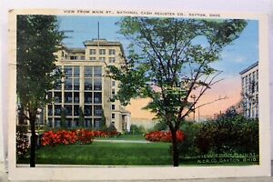 Ohio OH Dayton National Cash Register CO Main Street Postcard Old Vintage Card