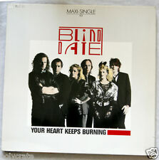 """Disque Vinyle 45 tours Maxi - Blind Date Your Heart keeps burning 12"""""""