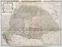 Reilly: Karte von dem Königreiche Ungarn (1796). Original-Kupferstich.