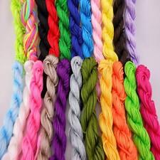 22PC 1.5mm Mixed Nylon Macrame Chinese Knot Cord Shamballa Beading Thread String