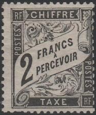 "FRANCE STAMP TIMBRE TAXE N° 23 "" TYPE DUVAL 2F NOIR "" NEUF x TB A VOIR RARE J730"