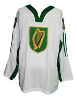 Any Name Number Size Team Ireland Retro Custom Hockey Jersey Bailey White