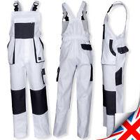 Work Trousers Bib and Brace Pants Overalls Multi Pocket Painters Decorators UK.