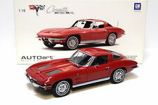 1:18 AUTOart CHEVROLET CORVETTE Coupé sting ray 1963 red New chez premium-modelca