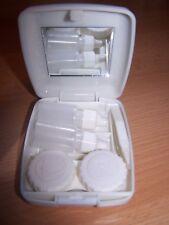Kontaktlinsenbehälter, Kontaktlinsen Box ,Spiegel, Pinzette und Lösung Flaschen
