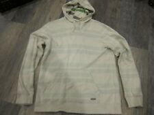 Quick Silver Men's Hoodie   Size- LG Color-  Light striped off white NWOT $59