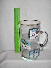 WEST VIRGINIA HANDMADE GLASS BEER PITCHER~SKI-POSITIONS